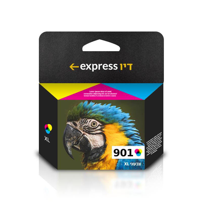 דיו צבעוני תואם למדפסת HP 901