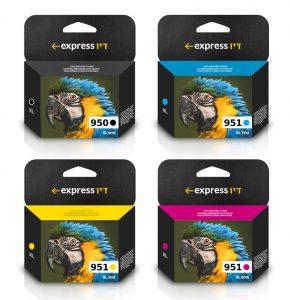 סט דיו תואם למדפסת HP 950XL + HP 951XL