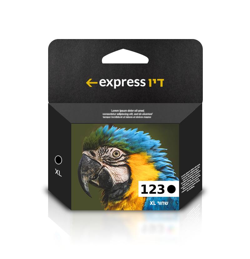 דיו שחור תואם למדפסת HP 123XL