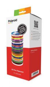 מארז 22 סלילי PLA Filament מקוריים Polaroid באורך 110 מטר (5 מטר כל סליל)