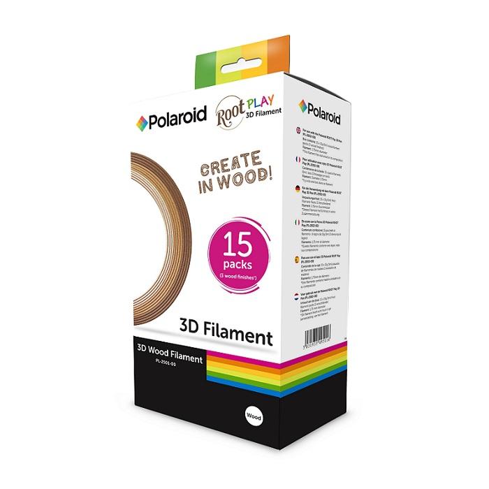 מארז 15 סלילי עץ פרימיום מקוריים Polaroid 3D