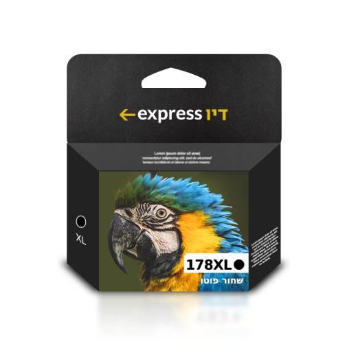 דיו שחור פוטו תואם למדפסת HP 178XL CB322HE Photo