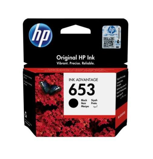 דיו שחור מקורי למדפסת HP 653 3YM74AE