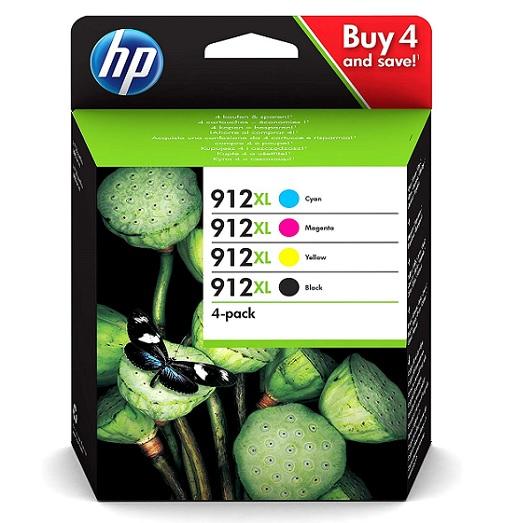 סט דיו מקורי למדפסת HP 912XL