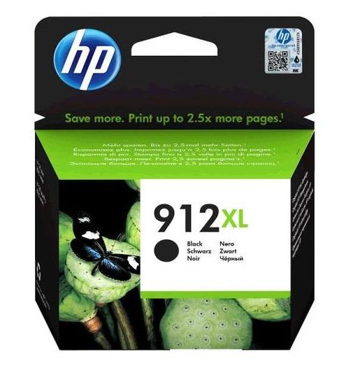 דיו שחור מקורי למדפסת HP 912XL 3YL84AE
