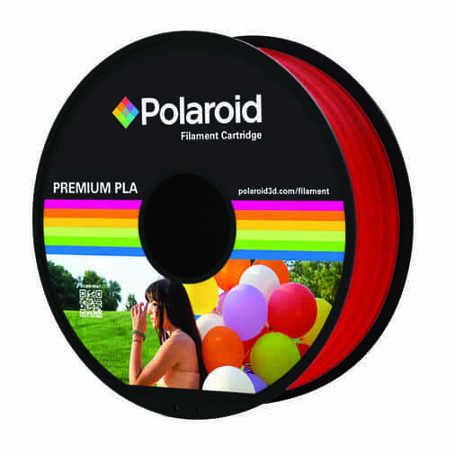"""סליל מקורי פרימיום אדום PLA במשקל 1 ק""""ג Polaroid 3D Premium"""