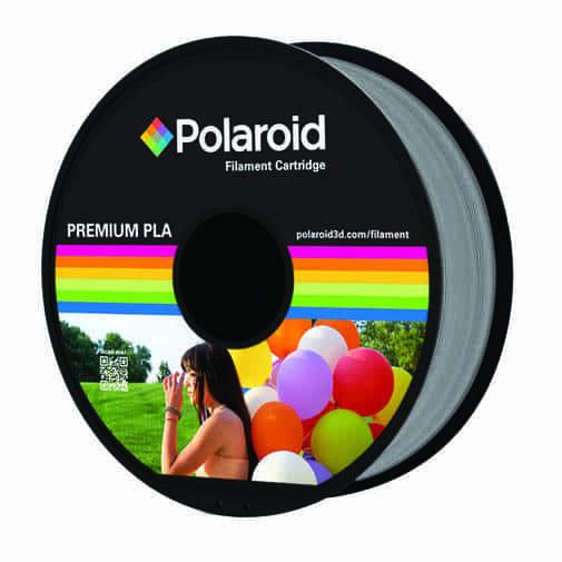 """סליל מקורי פרימיום כסוף PLA במשקל 1 ק""""ג Polaroid 3D Premium"""