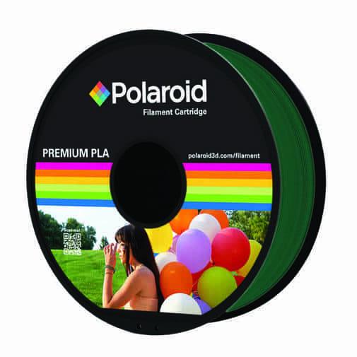 """סליל מקורי פרימיום ירוק כהה PLA במשקל 1 ק""""ג Polaroid 3D Premium"""