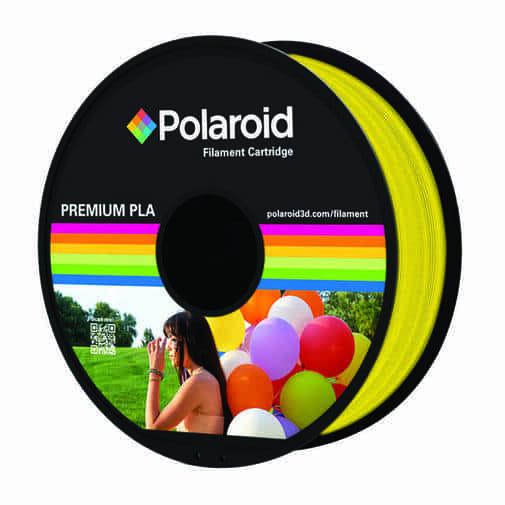 """סליל מקורי פרימיום צהוב PLA במשקל 1 ק""""ג Polaroid 3D Premium"""