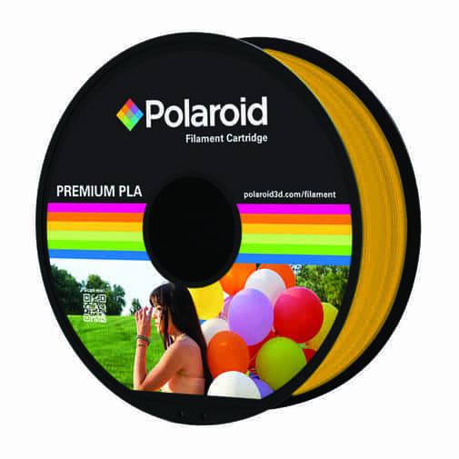 """סליל מקורי פרימיום זהב PLA במשקל 1 ק""""ג Polaroid 3D Premium"""