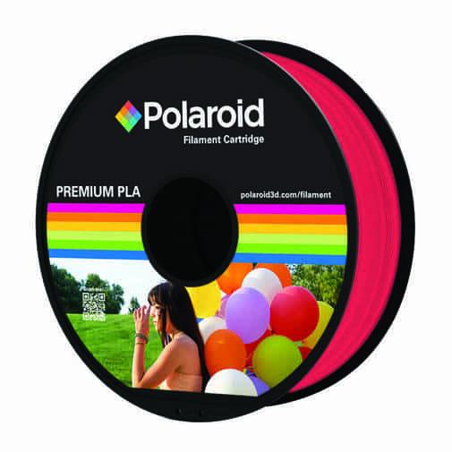 """סליל מקורי פרימיום אדום שקוף PLA במשקל 1 ק""""ג Polaroid 3D Premium"""