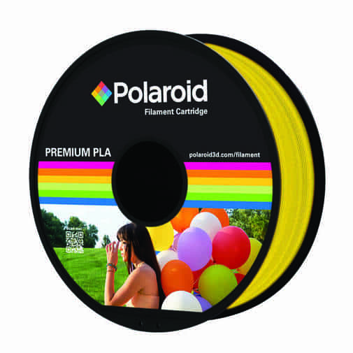 """סליל מקורי פרימיום צהוב שקוף PLA במשקל 1 ק""""ג Polaroid 3D Premium"""