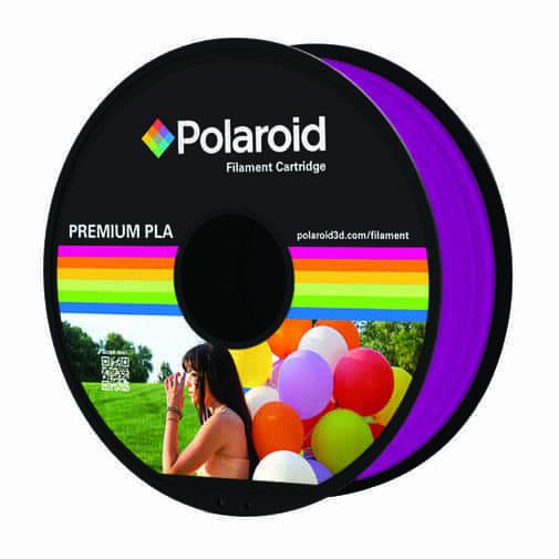 """סליל מקורי פרימיום סגול שקוף PLA במשקל 1 ק""""ג Polaroid 3D Premium"""
