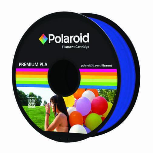 """סליל מקורי פרימיום כחול שקוף PLA במשקל 1 ק""""ג Polaroid 3D Premium"""