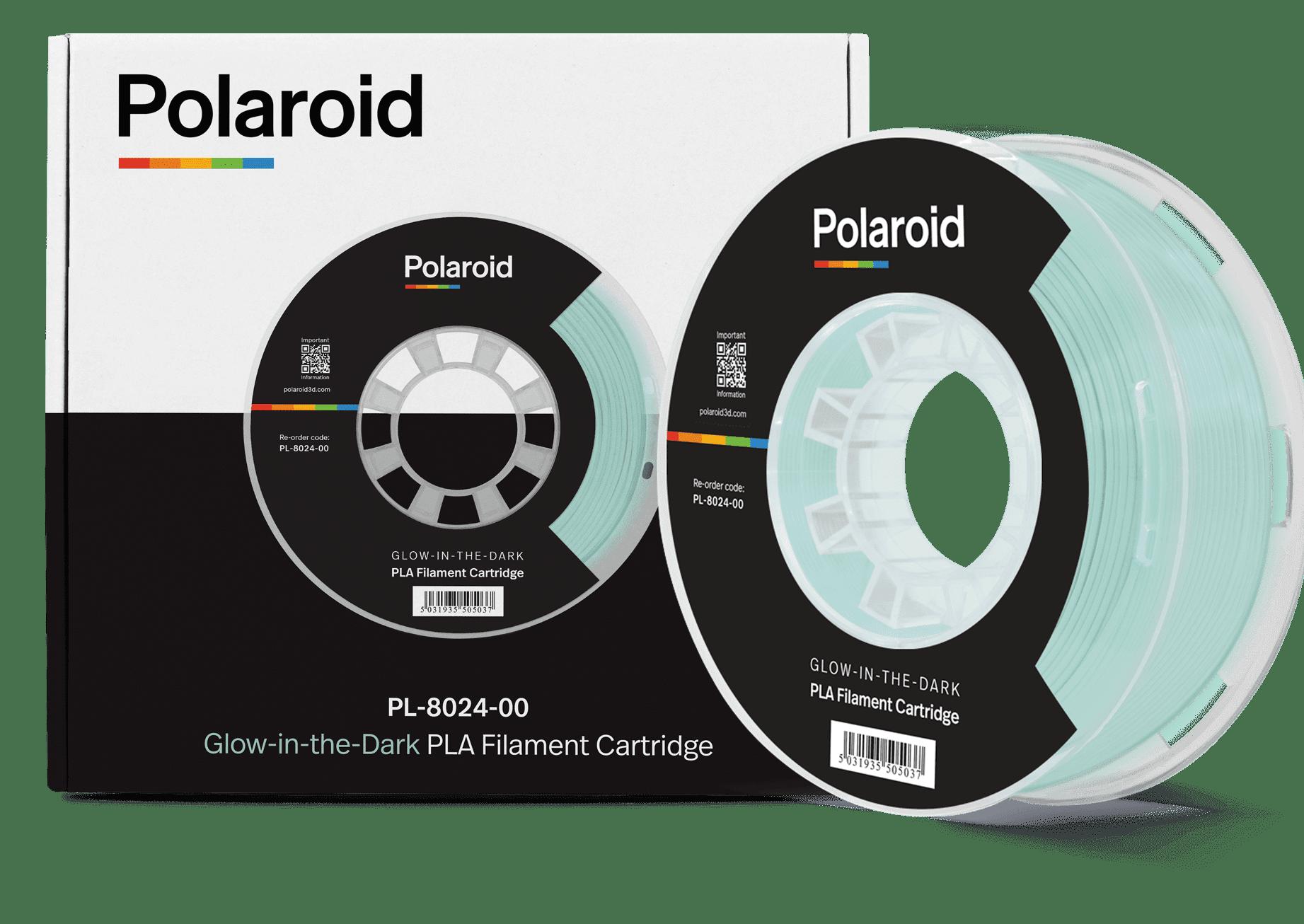"""סליל מקורי פרימיום טורקיז זוהר בחושך PLA במשקל 1 ק""""ג Polaroid 3D Premium"""