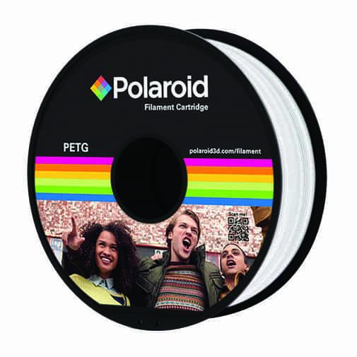 """סליל מקורי פרימיום לבן PETG במשקל 1 ק""""ג Polaroid 3D Premium"""
