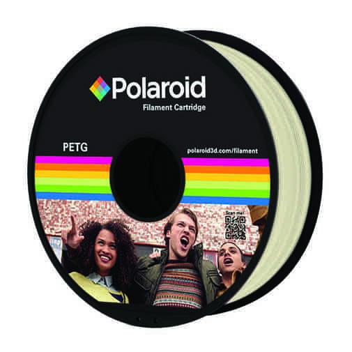 """סליל מקורי פרימיום בגוון טבעי PETG במשקל 1 ק""""ג Polaroid 3D Premium"""