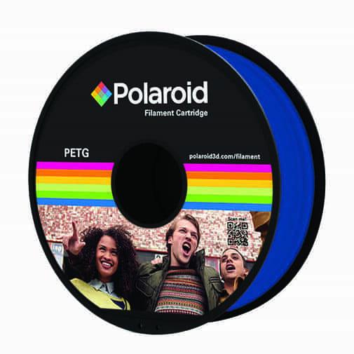 """סליל מקורי פרימיום כחול PETG במשקל 1 ק""""ג Polaroid 3D Premium"""