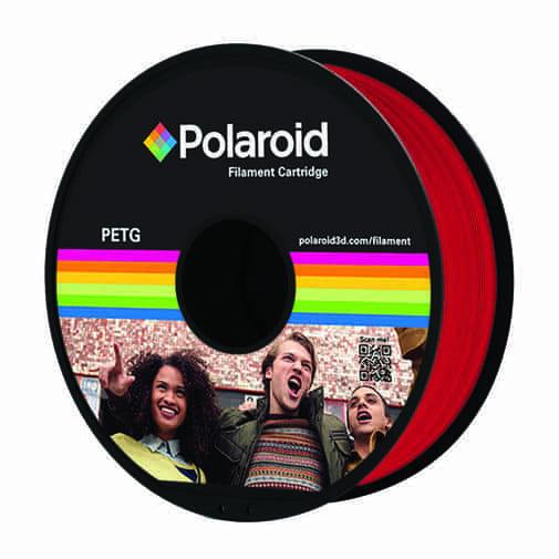 """סליל מקורי פרימיום אדום PETG במשקל 1 ק""""ג Polaroid 3D Premium"""