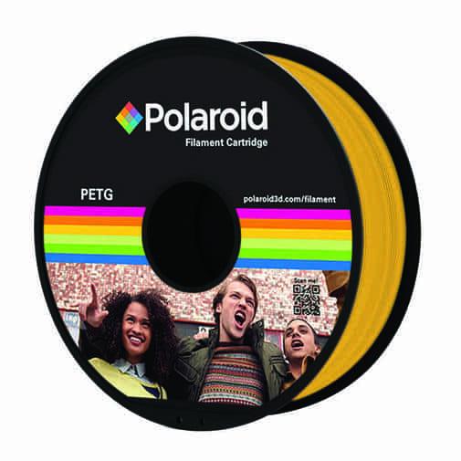 """סליל מקורי פרימיום צהוב PETG במשקל 1 ק""""ג Polaroid 3D Premium"""