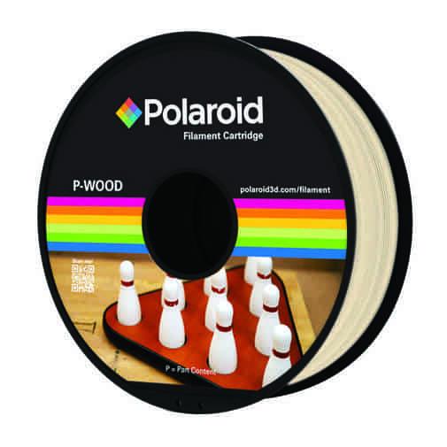 """סליל מקורי פרימיום בגוון עץ טבעי P-WOOD במשקל 0.5 ק""""ג Polaroid 3D Premium"""